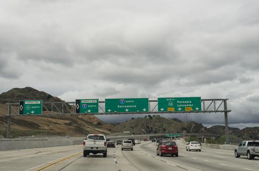 I-5 North at California 14 North